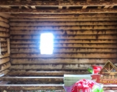 А так новый дом из рубленного бревна выглядит изнутри