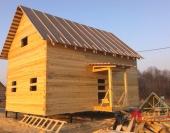 Готовый дом с крыльцом, ждем усадку для дальнейшей отделки